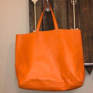 Pulicati Orange Leather Tote